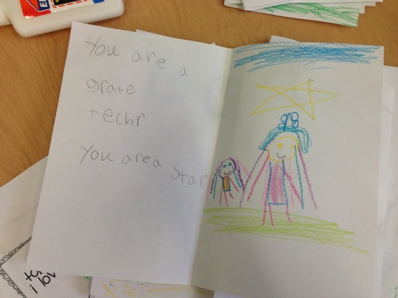 This student was perfectly behaved, so I said she could just compliment the substitute on being  a great teacher.