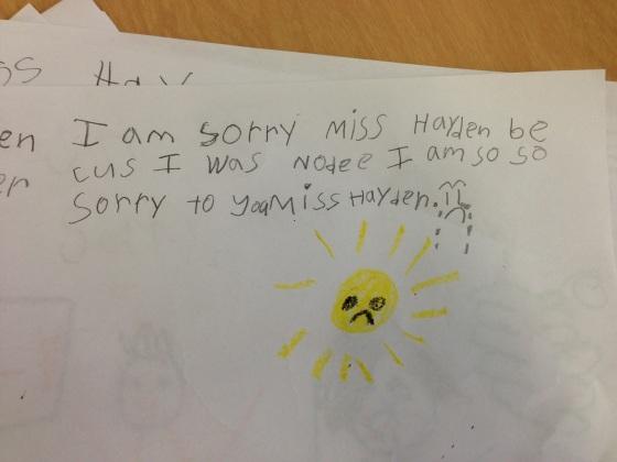 Even the sun was sad that the children were so nodee...